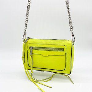 REBECCA MINKOFF Avery Leather Crossbody Bag Yellow